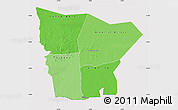 Political Shades Map of Hodh el Gharbi, cropped outside
