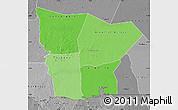 Political Shades Map of Hodh el Gharbi, desaturated