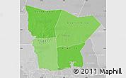 Political Shades Map of Hodh el Gharbi, lighten, desaturated