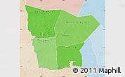 Political Shades Map of Hodh el Gharbi, lighten
