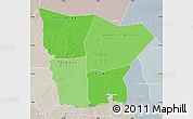 Political Shades Map of Hodh el Gharbi, lighten, semi-desaturated