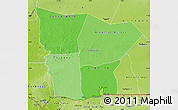 Political Shades Map of Hodh el Gharbi, physical outside