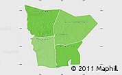 Political Shades Map of Hodh el Gharbi, single color outside