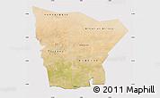 Satellite Map of Hodh el Gharbi, cropped outside