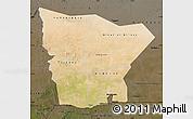 Satellite Map of Hodh el Gharbi, darken
