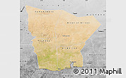 Satellite Map of Hodh el Gharbi, desaturated