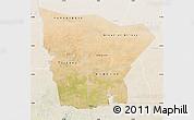 Satellite Map of Hodh el Gharbi, lighten