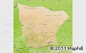 Satellite Map of Hodh el Gharbi, physical outside