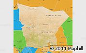 Satellite Map of Hodh el Gharbi, political outside