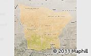 Satellite Map of Hodh el Gharbi, semi-desaturated
