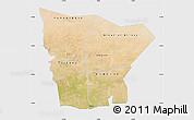 Satellite Map of Hodh el Gharbi, single color outside