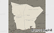 Shaded Relief Map of Hodh el Gharbi, darken
