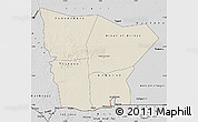 Shaded Relief Map of Hodh el Gharbi, desaturated