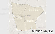 Shaded Relief Map of Hodh el Gharbi, lighten