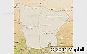 Shaded Relief Map of Hodh el Gharbi, satellite outside