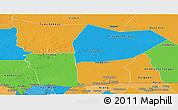 Political Panoramic Map of Hodh el Gharbi