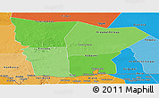 Political Shades Panoramic Map of Hodh el Gharbi