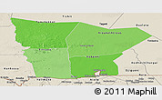 Political Shades Panoramic Map of Hodh el Gharbi, shaded relief outside