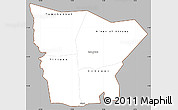 Gray Simple Map of Hodh el Gharbi, cropped outside