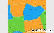 Political Simple Map of Hodh el Gharbi