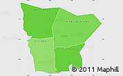 Political Shades Simple Map of Hodh el Gharbi, single color outside
