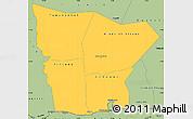 Savanna Style Simple Map of Hodh el Gharbi