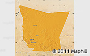 Political Map of Tamchekket, satellite outside