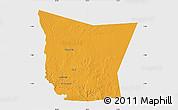 Political Map of Tamchekket, single color outside