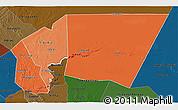 Political Shades 3D Map of Tagant, darken