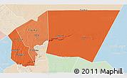 Political Shades 3D Map of Tagant, lighten