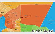 Political Shades 3D Map of Tagant