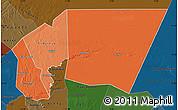 Political Shades Map of Tagant, darken