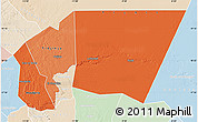 Political Shades Map of Tagant, lighten