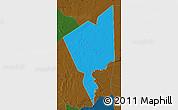 Political Map of Tidjikja, darken