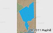 Political Map of Tidjikja, semi-desaturated