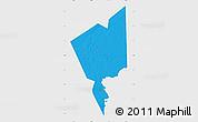 Political Map of Tidjikja, single color outside