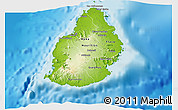 Physical 3D Map of Mauritius