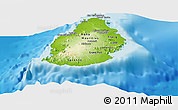Physical Panoramic Map of Mauritius