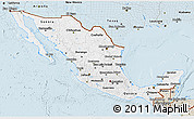 Classic Style 3D Map of Mexico