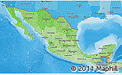 Political Shades 3D Map of Mexico
