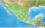 Political Shades 3D Map of Mexico, satellite outside, bathymetry sea
