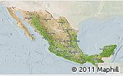 Satellite 3D Map of Mexico, lighten