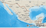 Shaded Relief 3D Map of Mexico