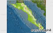 Physical 3D Map of Baja California Sur, darken