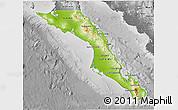 Physical 3D Map of Baja California Sur, desaturated