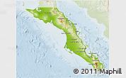 Physical 3D Map of Baja California Sur, lighten