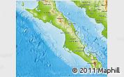 Physical 3D Map of Baja California Sur