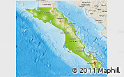 Physical 3D Map of Baja California Sur, shaded relief outside