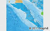 Political Shades 3D Map of Baja California Sur
