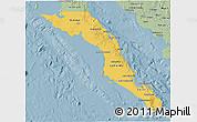 Savanna Style 3D Map of Baja California Sur